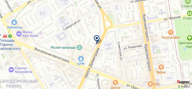 Новосибирский энергетический центр, ОАО на карте