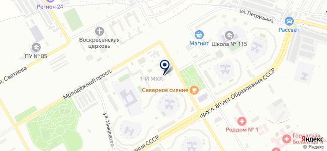 Абаюд на карте