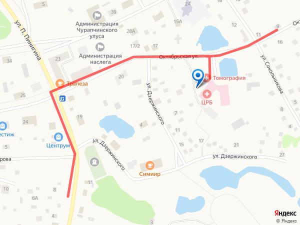 Чурапчинская ЦРБ схема проезда каменный больничный комплекс