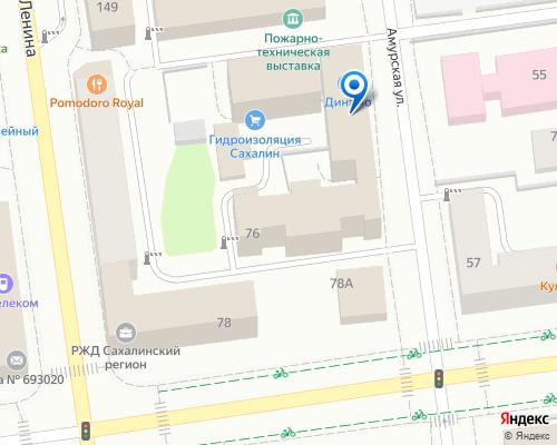 Расположение магазина NSP в Южно-Сахалинске на Яндекс карте