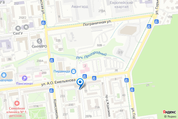 Схема проезда до клиники Гинес