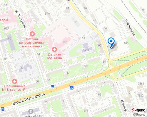 Расположение магазина NSP в Бресте на Яндекс карте