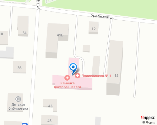 Расположение магазина NSP в Каменец-Подольском на Яндекс карте
