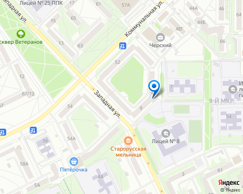 Расположение магазина NSP в Пскове на Яндекс карте