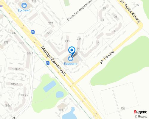 Расположение магазина NSP в Новополоцке на Яндекс карте