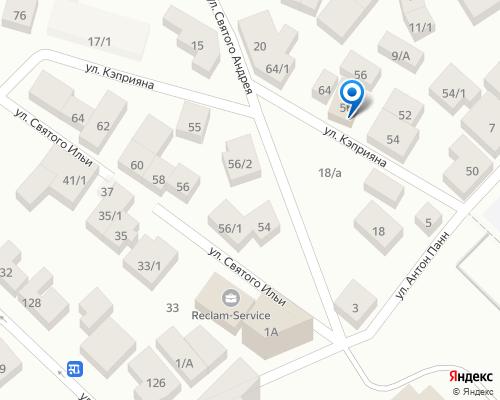 Расположение магазина NSP в Кишиневе на Яндекс карте