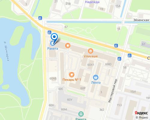 Расположение магазина NSP в Петергофе на Яндекс карте