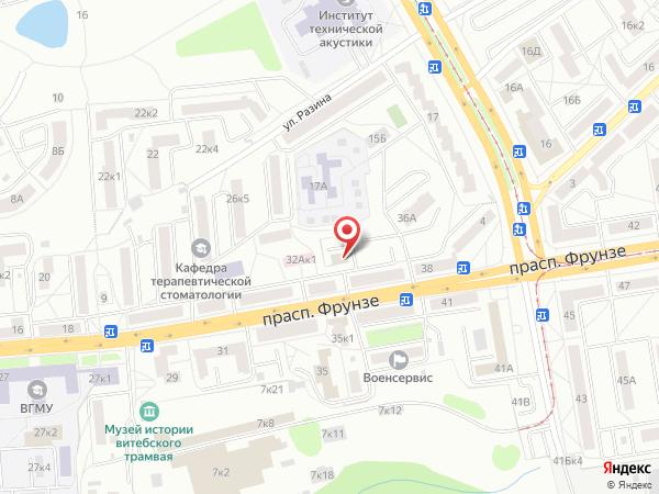 Печатная версия схемы проезда к филиалу КИП-Сервис в Витебске