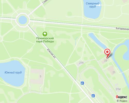 Схема проезда на полигон Приморский парк Победы