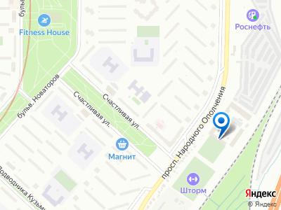 Карта расположения выставочного дома на пр. Народного Ополчения