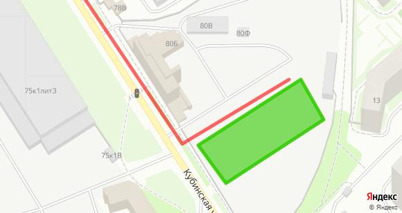Схема проезда к площадке Московская