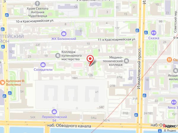 Печатная версия схемы проезда к филиалу КИП-Сервис в Санкт-Петербурге