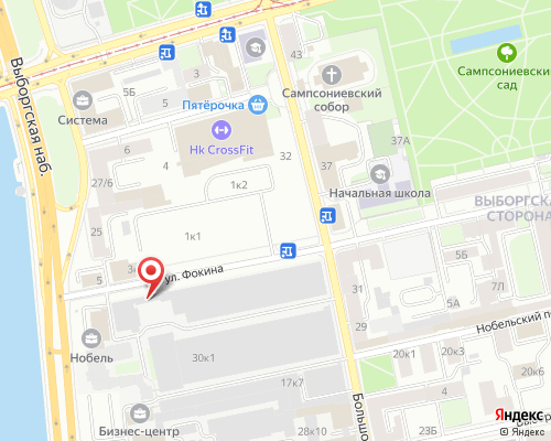Схема проезда на полигон Выборгская