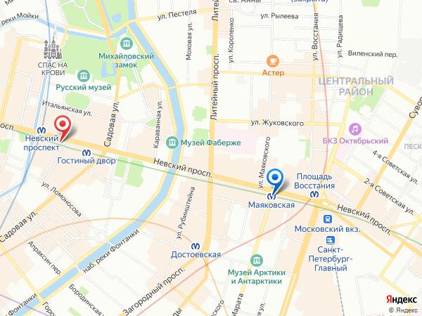 салон эротического массажа Ero Jinny   у метро Маяковская - карта