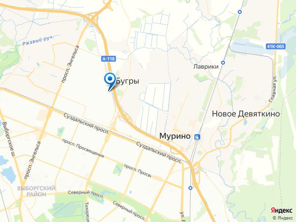 схема проезда на склад в Санкт-Петербурге