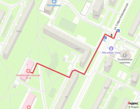 карта машрутов