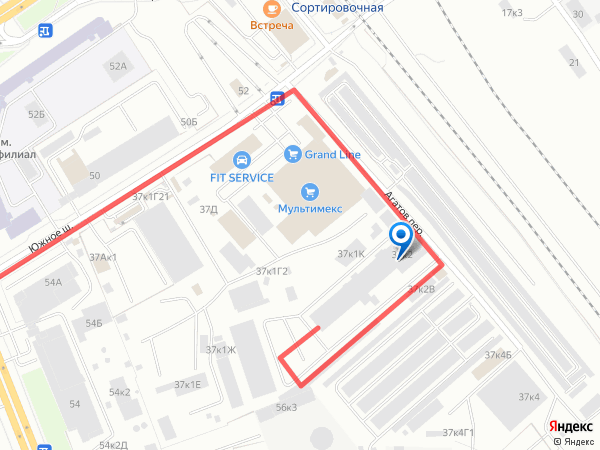 Схема проезда в компанию Грузбери