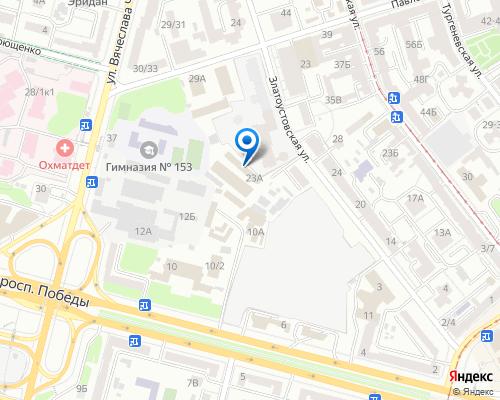 Расположение магазина NSP в Киеве на Яндекс карте