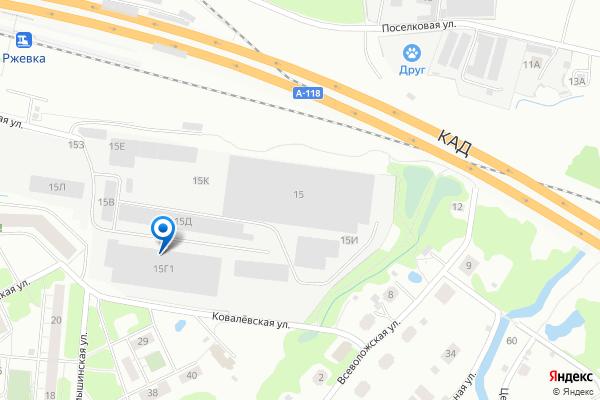Наш офис на карте Санкт-Петербурга