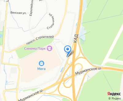 Карта расположения выставочного дома на Мурманском шоссе