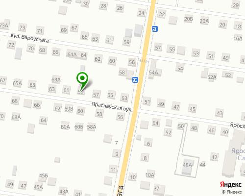 Расположение магазина NSP в Гомеле на Яндекс карте