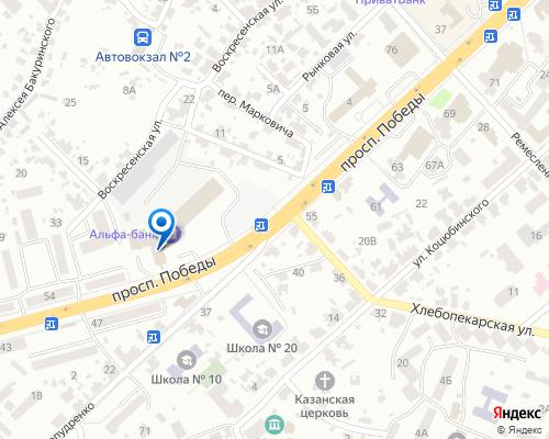 Расположение магазина NSP в Чернигове на Яндекс карте