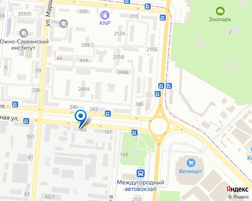 Расположение магазина NSP в Николаеве на Яндекс карте
