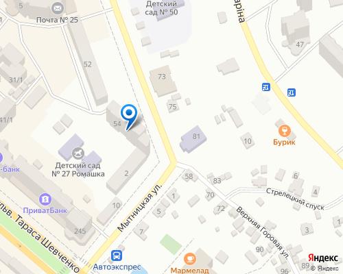 Расположение магазина NSP в Чкркассах на Яндекс карте