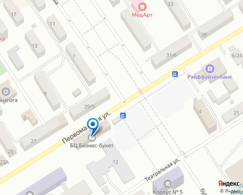 Расположение магазина NSP в Кременчуге на Яндекс карте