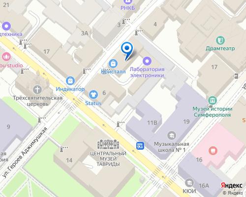 Расположение магазина NSP в Симферополе на Яндекс карте