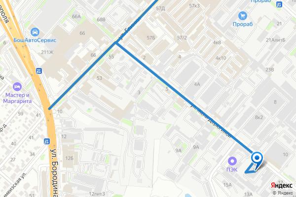 Карта проезда к ИП Радионова