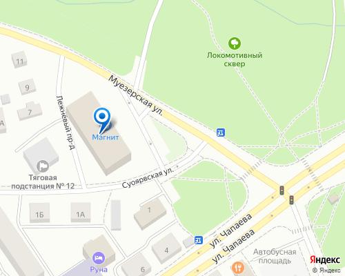 Расположение магазина NSP в Петрозаводске на Яндекс карте