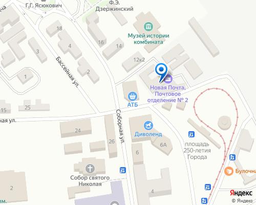 Расположение магазина NSP в Каменском на Яндекс карте