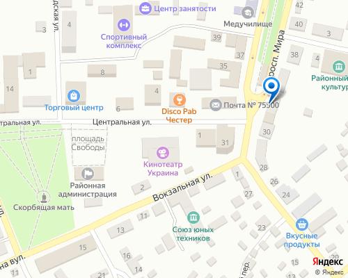 Расположение магазина NSP в Ганическе на Яндекс карте
