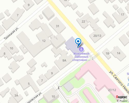 Расположение магазина NSP в Запорожье на Яндекс карте
