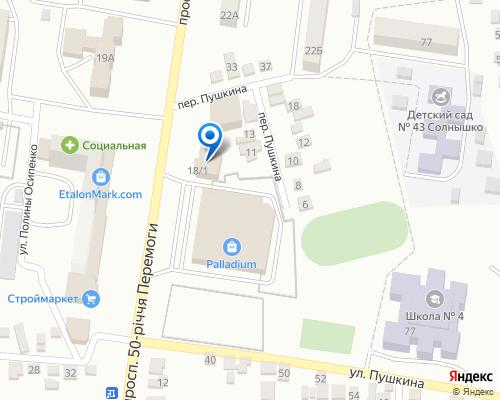 Расположение магазина NSP в Мелитополе на Яндекс карте
