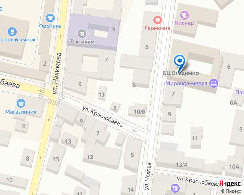 Расположение магазина NSP в Феодосии на Яндекс карте