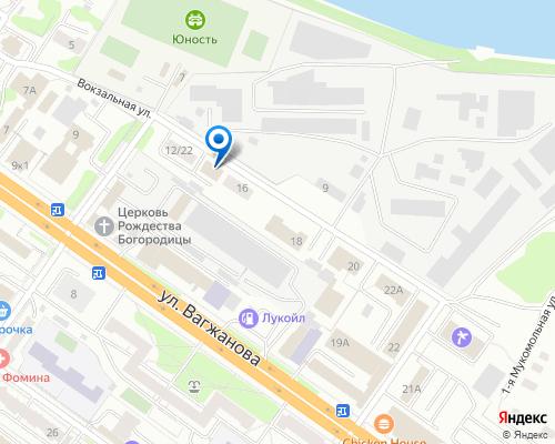 Расположение магазина NSP в Твери на Яндекс карте