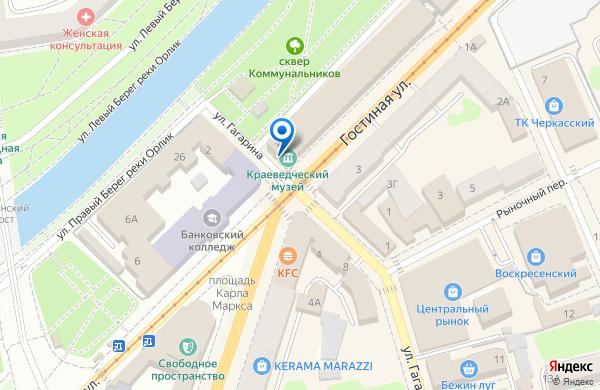 Орловский краеведческий музей на карте - Контакты