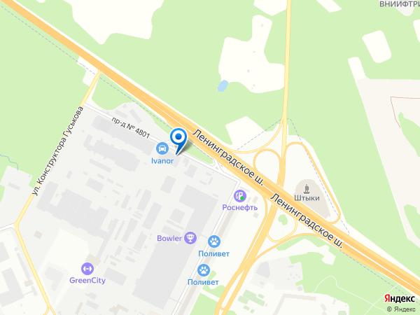 Карта места самовывоза товара