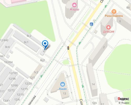 Расположение магазина NSP в Троицке на Яндекс карте