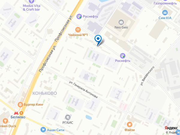 Схема проезда к магазину на ул. Бутлерова 24Б