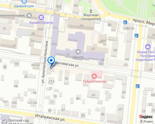 Расположение магазина NSP в Мариуполе на Яндекс карте