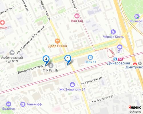 Компания Медиэйс в Москве на карте Яндекс