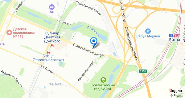 Карта с указанием расположения офиса ООО Стяжка24