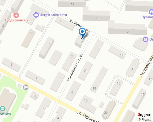 Расположение магазина NSP в Краматорске на Яндекс карте