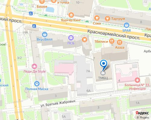 Расположение магазина NSP в Туле на Яндекс карте