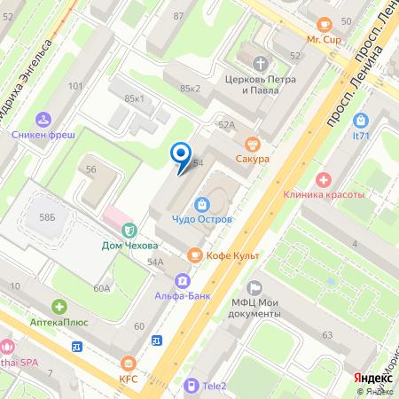 Расположение офиса на карте Тулы