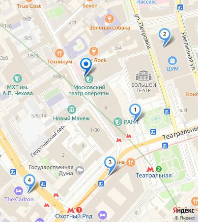 Ближайшие парковки - Театр на карте Москвы