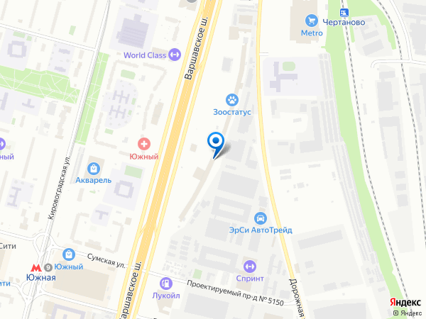 Адрес Москва, Варшавское шоссе дом 125